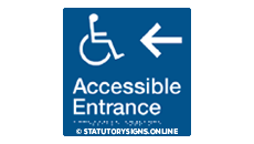 ACCESSIBLE ENTRANCE LEFT ARROW