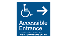 ACCESSIBLE ENTRANCE RIGHT ARROW
