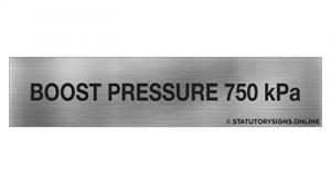 BOOST PRESSURE 750KPA