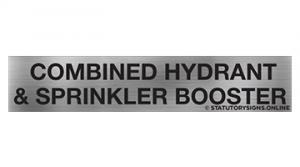 COMBINED HYDRANT & SPRINKLER BOOSTER