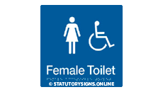 FEMALE DISABLED TOILET
