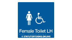 FEMALE DISABLED TOILET LEFT HAND