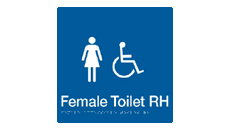 FEMALE DISABLED TOILET RIGHT HAND
