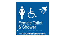 FEMALE DISABLED TOILET AND SHOWER