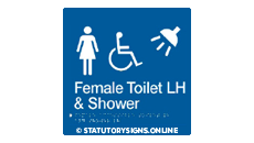 FEMALE DISABLED TOILET AND SHOWER LEFT HAND