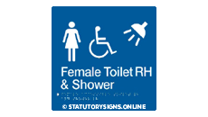 FEMALE DISABLED TOILET AND SHOWER RIGHT HAND
