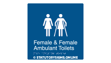 FEMALE & FEMALE AMBULANT TOILET