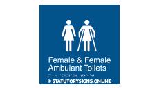 FEMALE & FEMALE AMBULANT TOILET