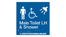 MALE DISABLED TOILET AND SHOWER LEFT HAND
