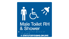MALE DISABLED TOILET AND SHOWER RIGHT HAND