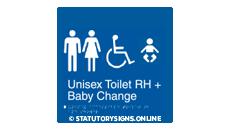 UNISEX TOILET RH & BABY CHANGE