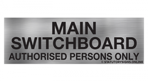 MAIN SWITCHBOARD AUTHORISED PERSONS ONLY