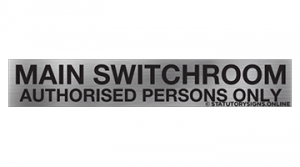 MAIN SWITCHROOM AUTHORISED PERSONS ONLY