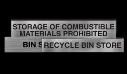 Storage Signs Statutory